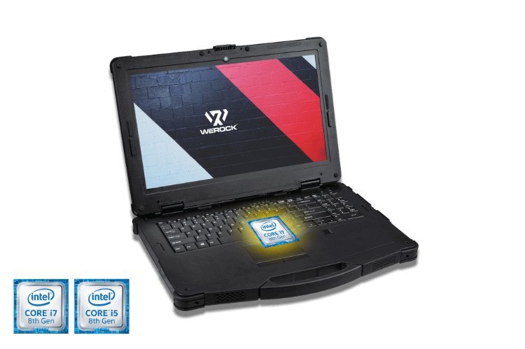 Rugged Notebook with Intel CPU icons