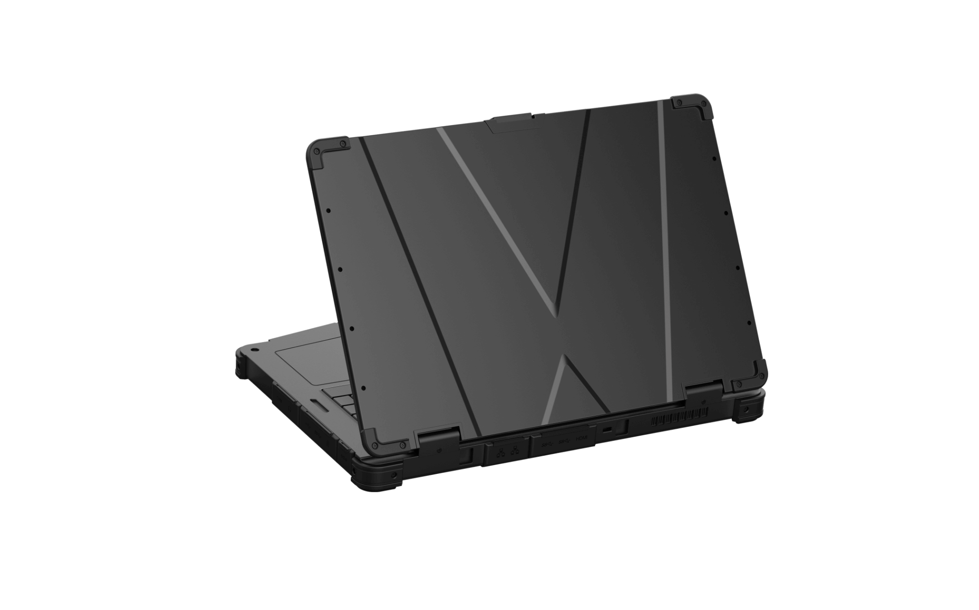 Rockbook X550 Rugged Notebook from back