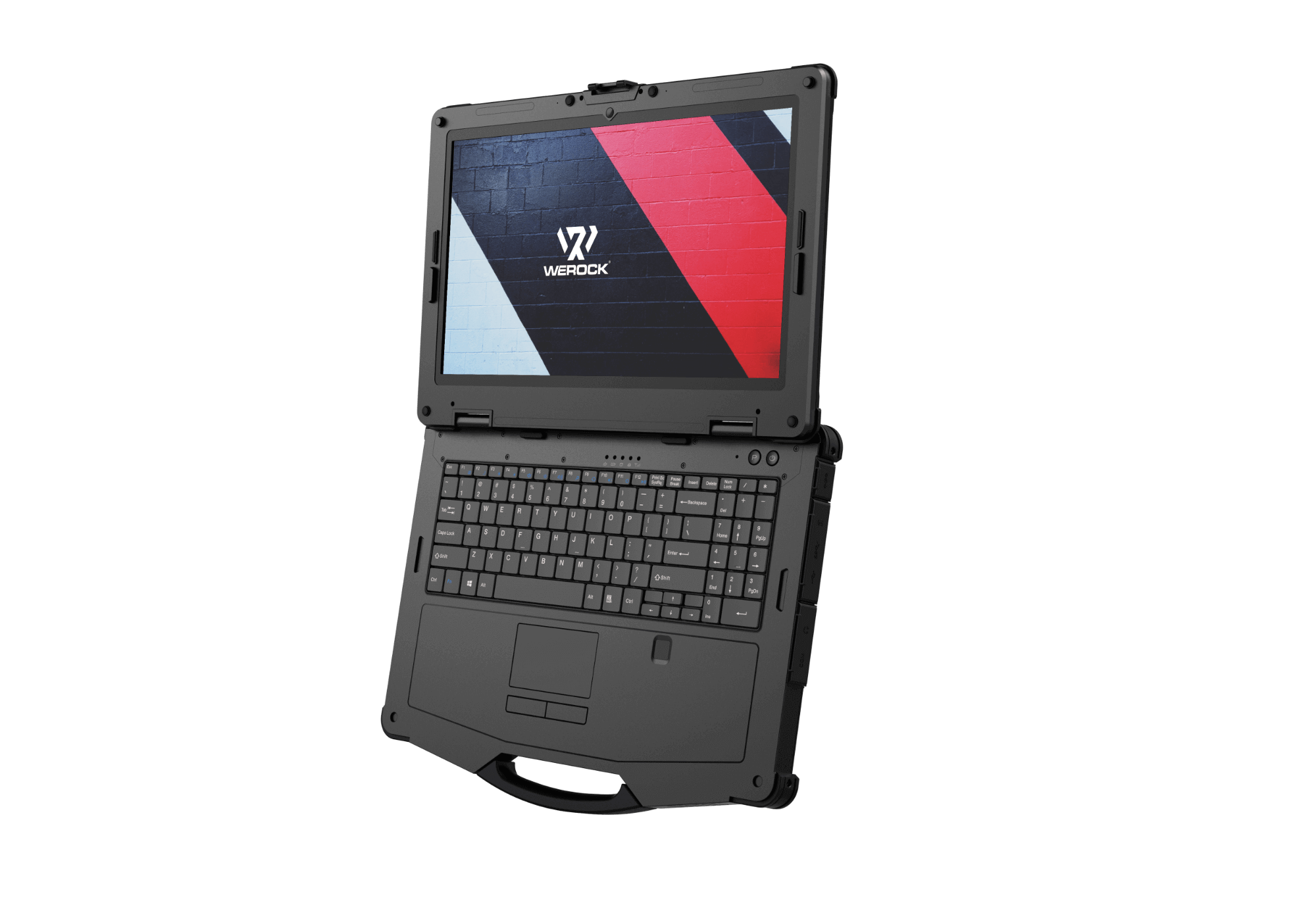 Flat view of a rugged notebook