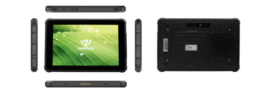 All six sides from the rugged tablet Rocktab S110