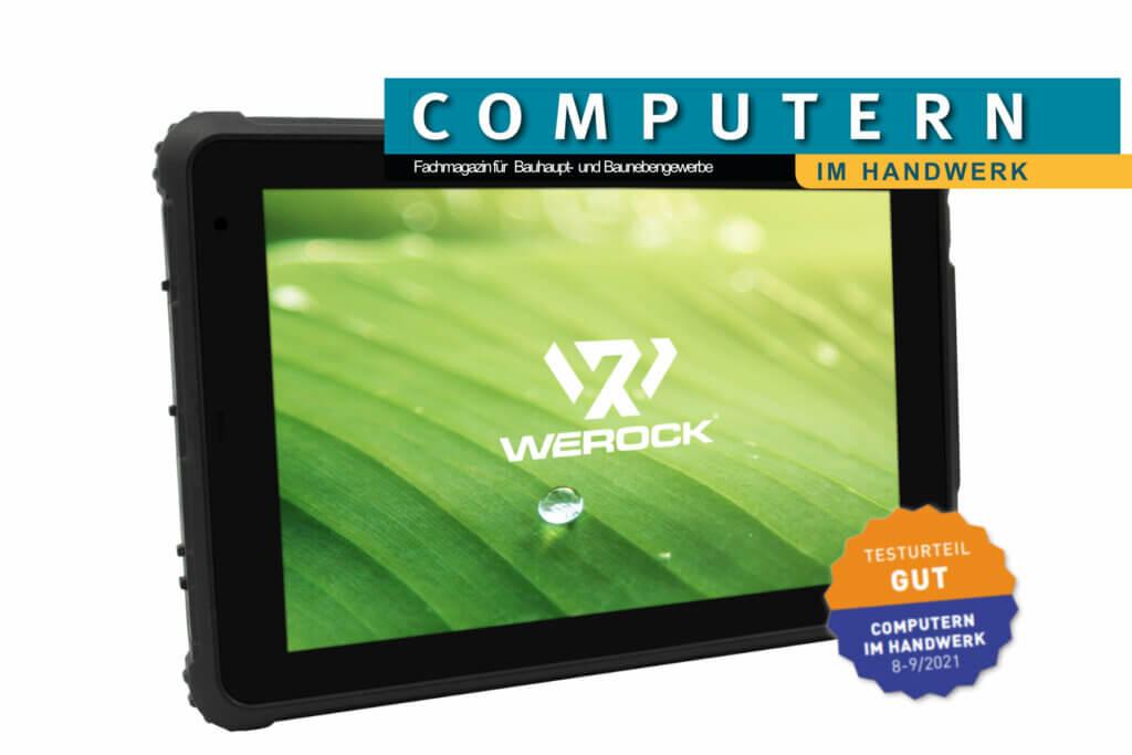 Rocktab S110 Rugged Tablet with Computern im Handwerk test badge with result GOOD