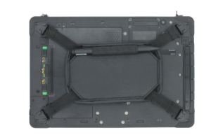Rocktab U210 Rugged Tablet from back including hand strap